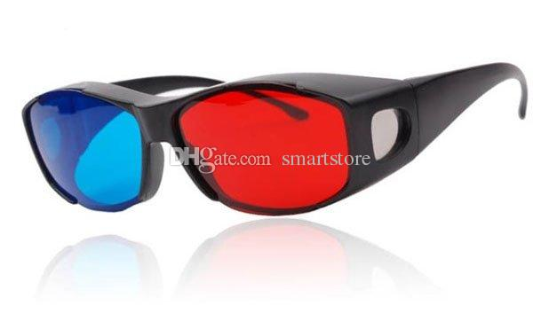 200pcs/lot Red Blue Cyan Myopia General 3D Glasses for 3D Glass Movie Game Movie DVD 3D Dimensional Free Shipping 0001