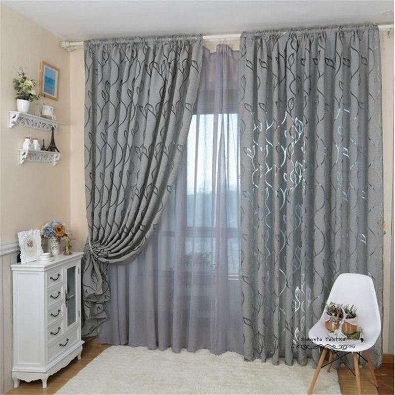 1pcs 100x 270 cm tenda stile tenda jacquard oscurante design per finestra soggiorno decorazione della casa