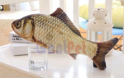 vif chat-en-ciel fishpillow farci menthe vivid chat oreiller herbe carpe poisson animal de compagnie simulation peluche jouet carpe jouet poisson gpcarp10034