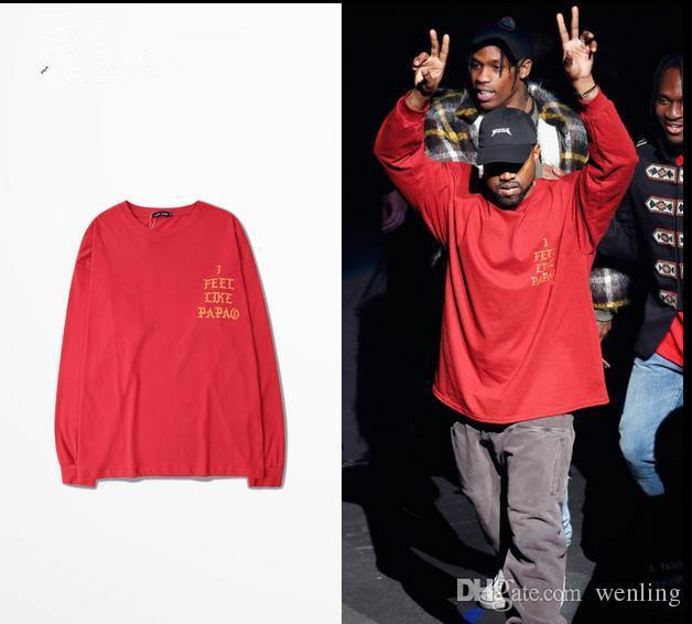 Vêtements pour hommes Vêtements à manches longues Nouvelle Arrivée Swag Vêtements pour hommes Kanye West Sentez-vous comme Pablo trois saisons
