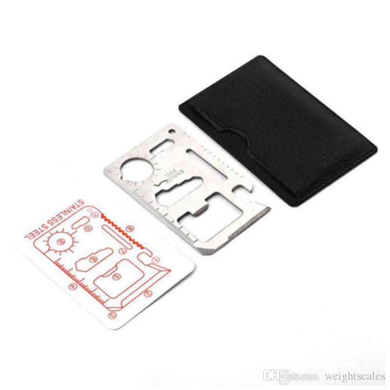 1 en 18-Multifuction portefeuille poche outdoor survie EDC outil carte de crédit Camping