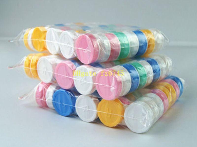 500pcs / lot Travel Plastic Storage Containment Content Lens box Soaking Cases Dual Box L+R Lached Lens