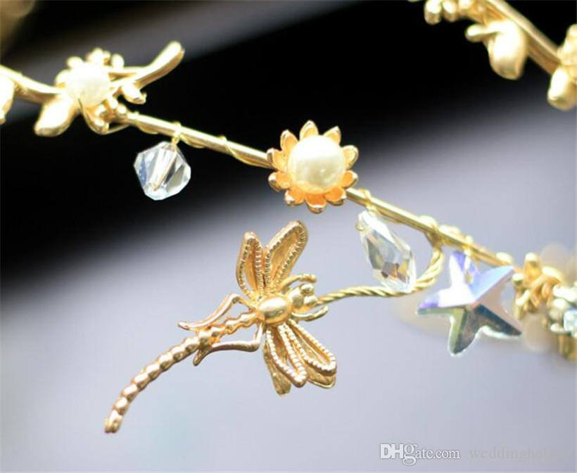 Großhandel Meerjungfrau Starfish Stirnband Tiara Hochzeit Braut