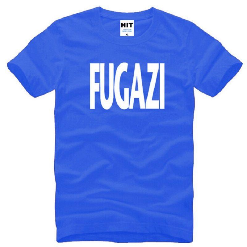 Nuevo Diseño Fugazi Camisetas Hombres Algodón de Manga Corta HEAVY METAL PUNK POP Camiseta de Hombre Verano Estilo Masculino Música Rock Band Top Tees