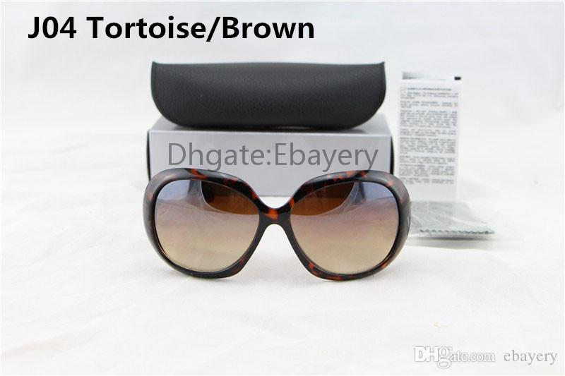 Free Shipping High Quality Women's Ladies Sunglasses Tortoise Big Frame UV400 Sun Glasses With Box Case 6 Colors Select