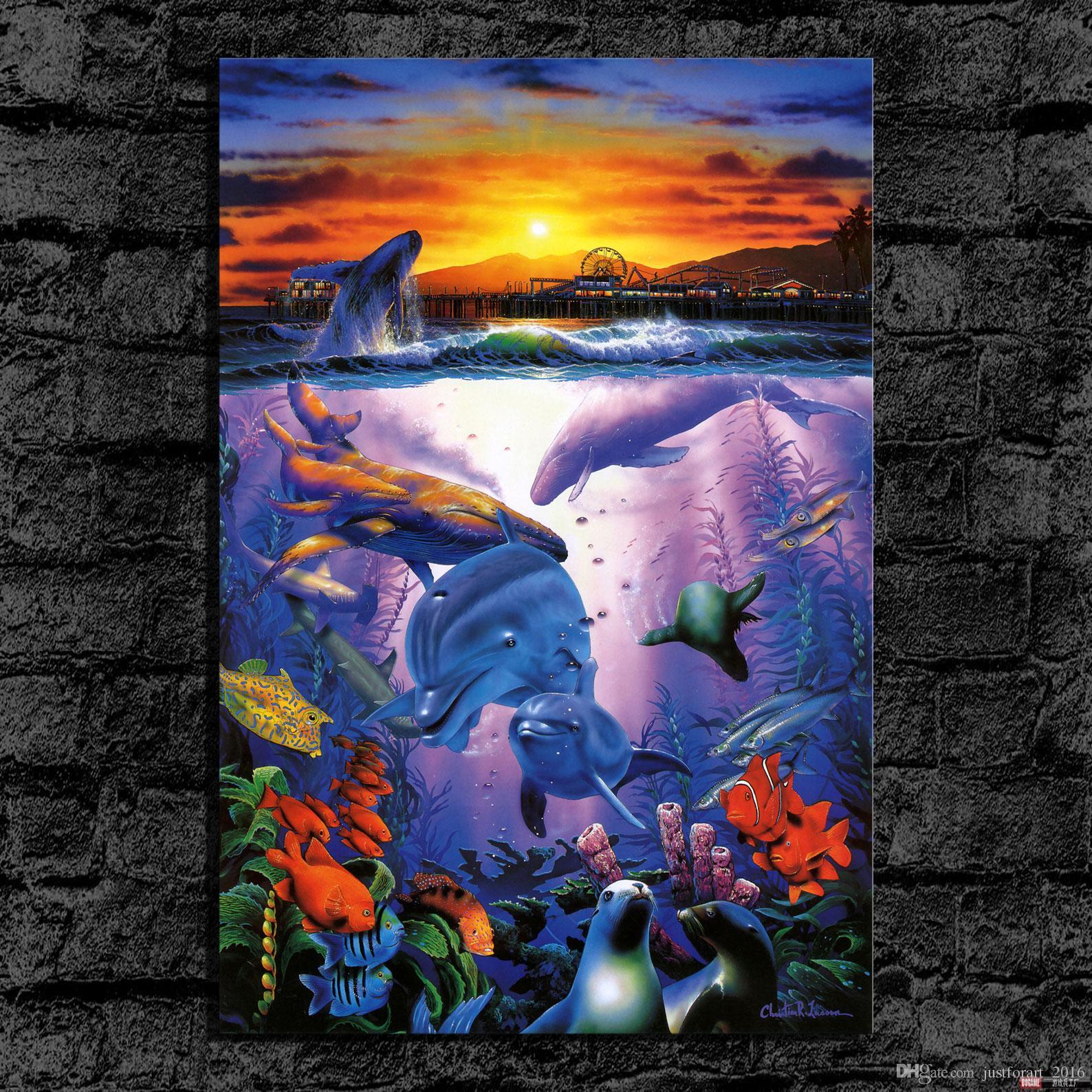 Printed HD Animaux Peinture à l'huile Accueil Décoration murale Art montre Canvas Bay Unframed
