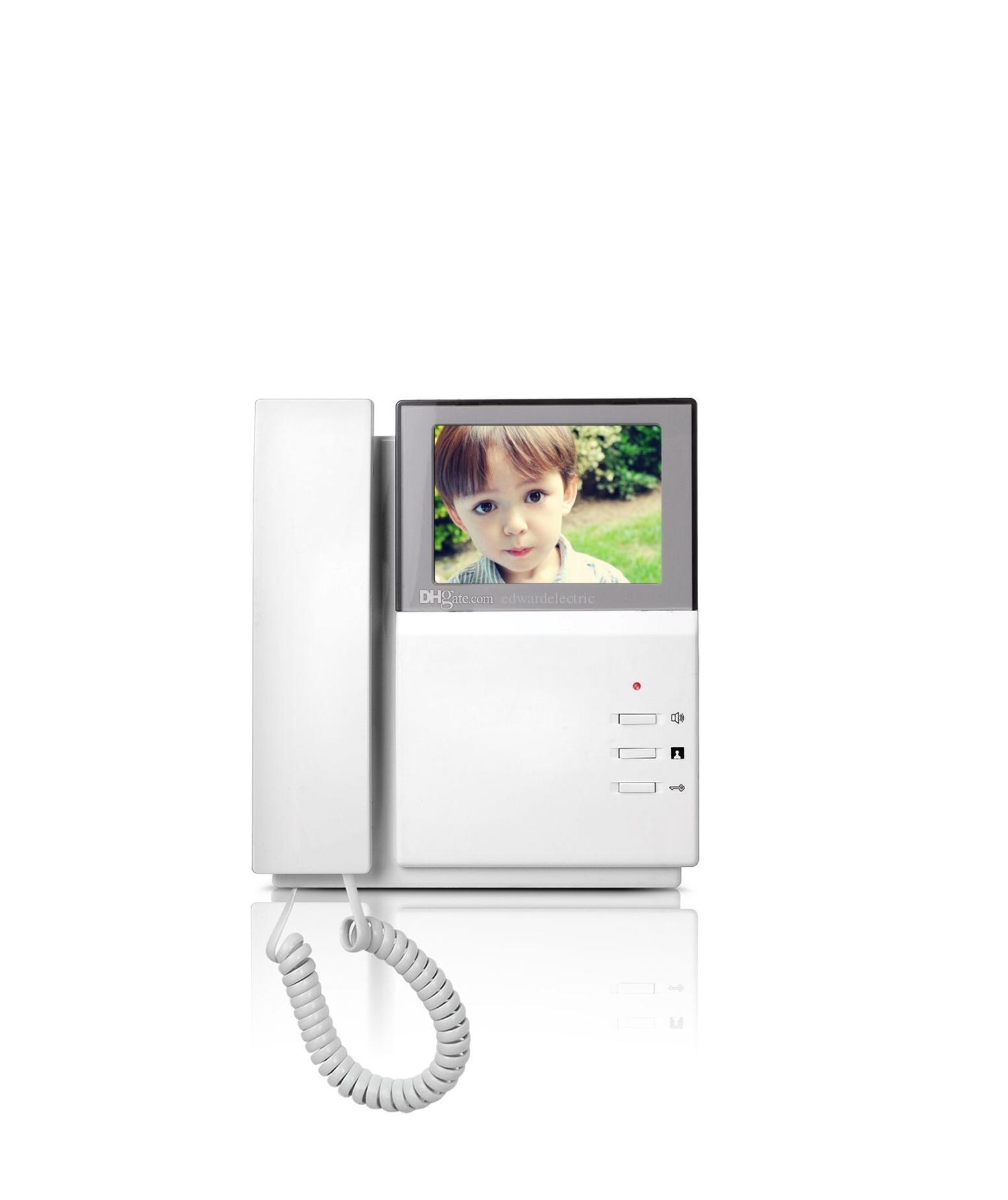 4.3 LCD Video Kapı Telefonu Kapı Zili Çan Interkom Sistemi Video Kamera el seti kapalı monitör