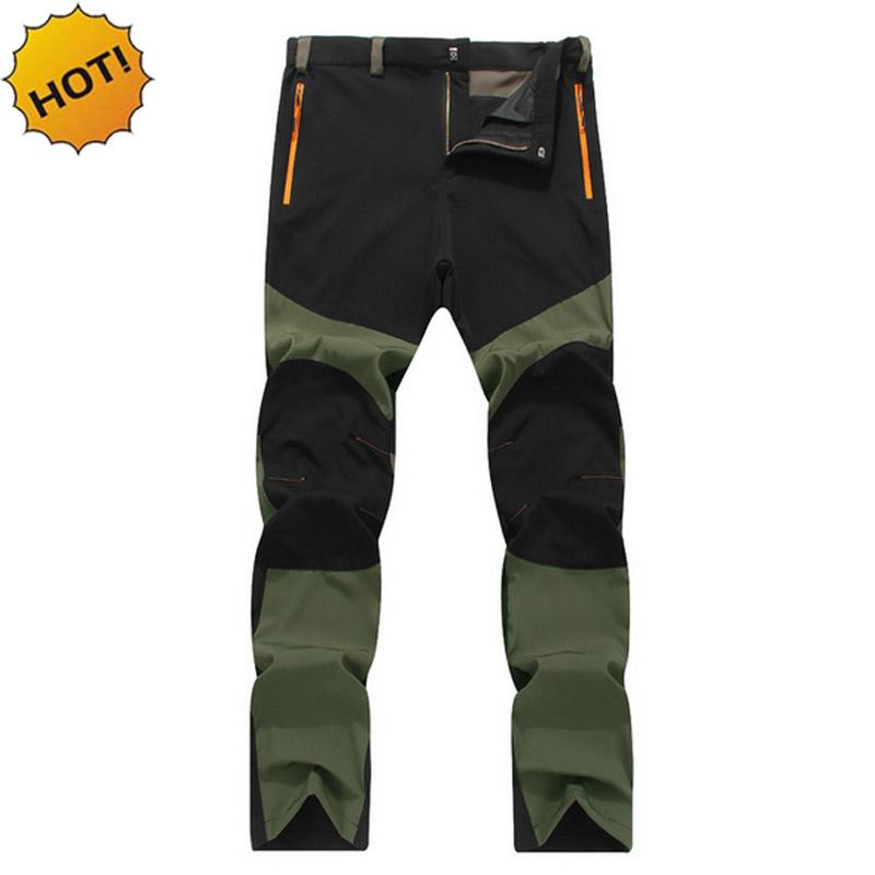 Wholesale- HOT2016 Outdoors Summer Elastic Waist Wear-resisting Waterproof Thin Patchwork Sweat Tactical Combat Army Cargo Travel Pants Men