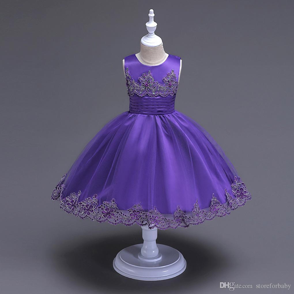 2018 Baby Kids Princess Dresses Wedding Dresses Girl Children Lace ...