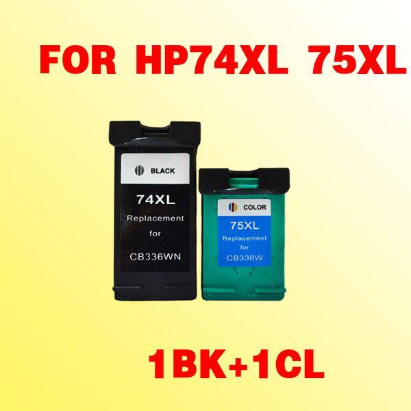 Para hp74 74XL cartucho de tinta compatível para hp74 75xl Deskjet D4260 fotosmart C4280 / C4385 / C5280 / D5360