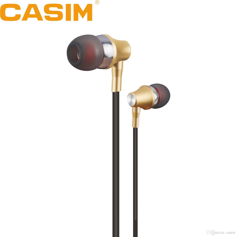 Yeni Casim R7 In-kulak Kulaklık Kulaklık Metal Evrensel Kulaklık 1.2M 3.5MM Metal Kulaklık Ağır Bass ile Gürültü Engelleme Ses Eller Serbest