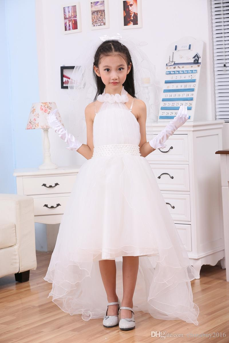 Cheap Flower Girls Dresses For Weddings Pretty Formal Halter ...