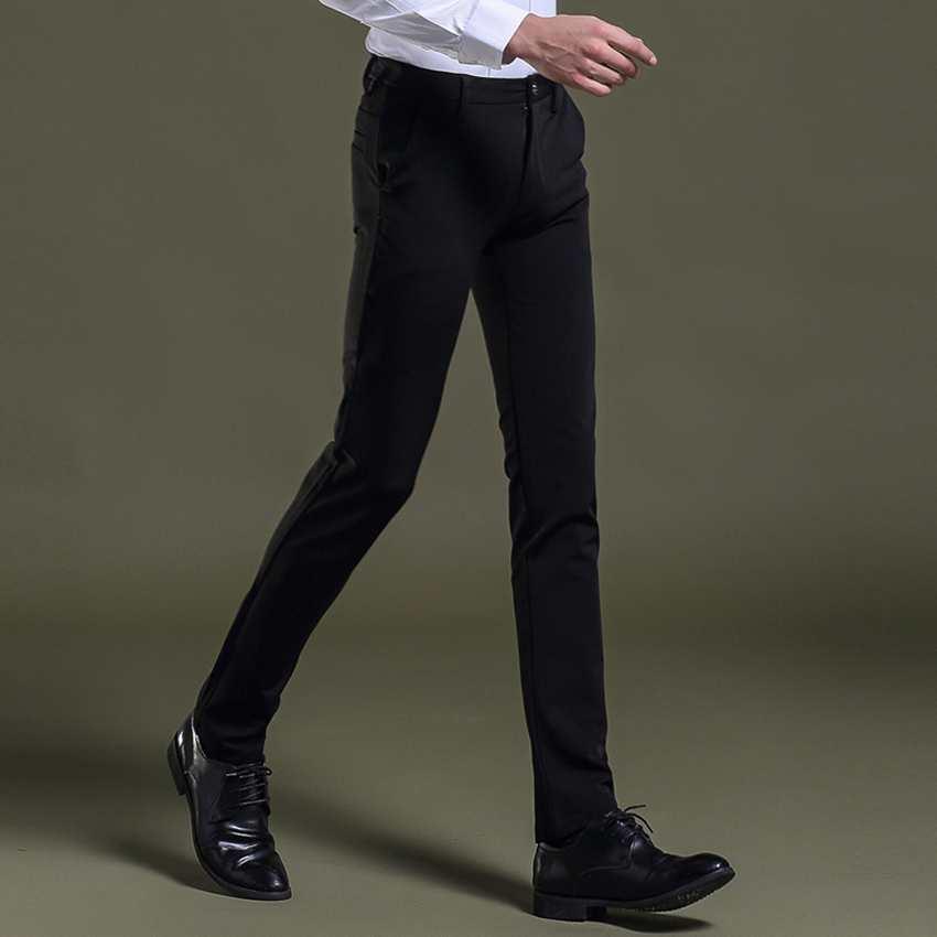 Wholesale- new arrival casual cotton men suit pants slim fit zipper tretchable pant chinos trousers pantalones deporte design work wear 437