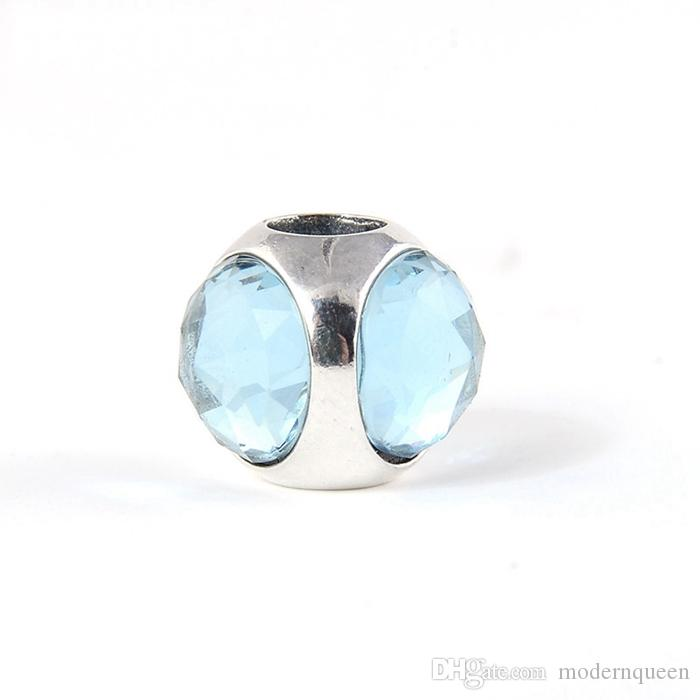 Aqua Blue Radiant Droplet Charms S925 Sterling Silver Adatto per Bracciale in stile marchio originale 792095Nab H8ALE