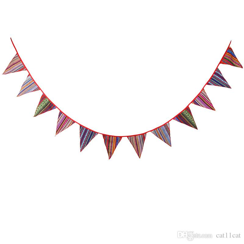 Handmade Colourful Candy Skull Fabric Bunting 12 flags