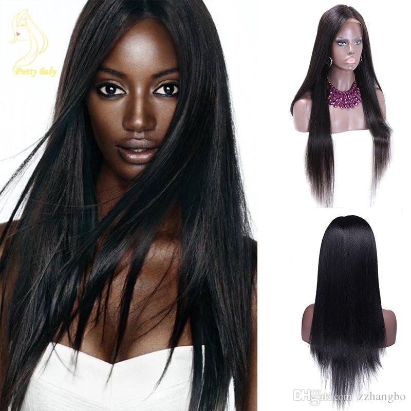 Brazilian Virgin 100% Wig Full Lace Wig And Higher Black Women On The Basis Of Human Hair Silky Straight Silk Weaving full lace Wigs kabell