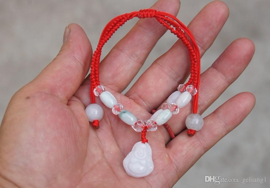 Белый нефритовый браслет Будды. 8 нефритовые бусины ручной работы. (талисман)