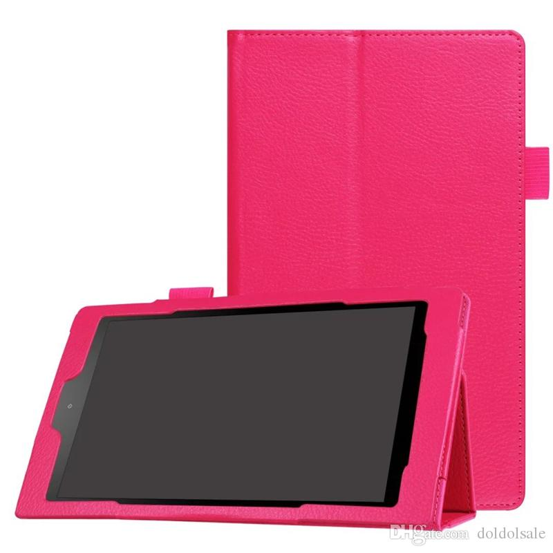50pcs Litchi Business PU Leather Case for New Kindle Fire HD 8 2016 Tablet Cover with Stand