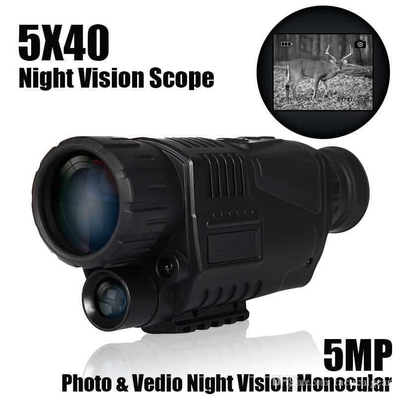 5X40 الرقمية 5MP للرؤية الليلية تلسكوب الصيد للرؤية الليلية أحادي 5 ميجا بكسل بندقية نطاق