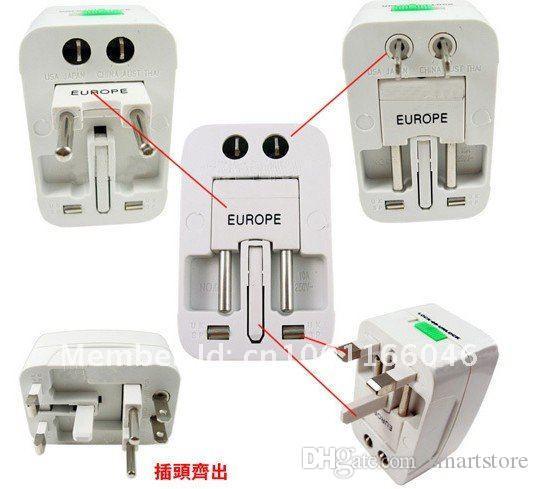 100PCS Tutto in un viaggio universale AC Power Charger Plug Adapter US Regno Unito EU AU portatile Spedizione gratuita 0001