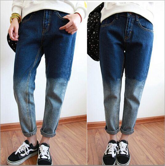 Jeans Damen Denim Skinny Hosen 2015 Neue Skinny Lange Jeans Hosen Hosen Plus Größe Lose Beiläufige BF Jeans Frauen Bleistift Hosen