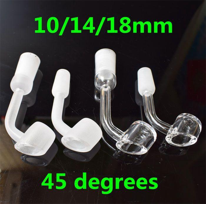 45 gradi angolo 4 mm di spessore quarzo domeless banger chiodo 12 stili 10mm 14mm 18mm maschio femmina comune meglio ciotole di vetro