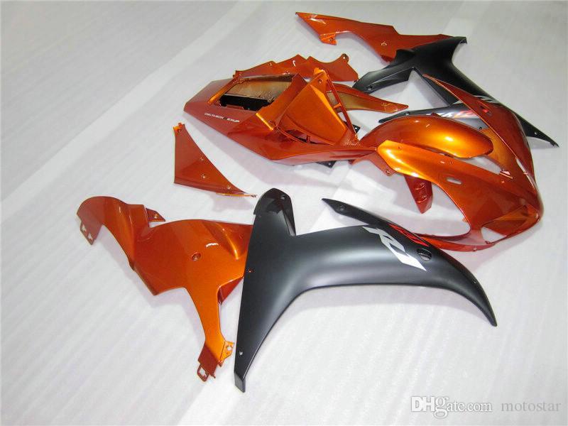 7 gifts Fairing kit for Yamaha YZF R1 2002 2003 black gold fairings set YZF R1 02 03 BC48