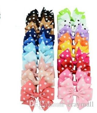 Children's jewelry creating rib with bowknot hairpin headdress duckbill clip children 20 color 8cm shipping free