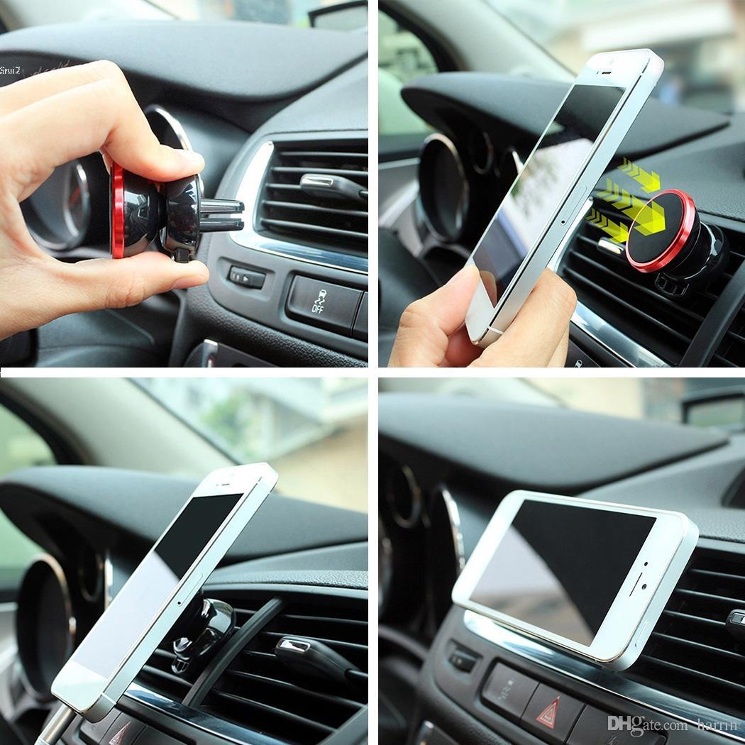 Soporte para Teléfono del Coche Magnético Montaje De Ventilación De Aire Cuna Para HTC Desire 19+