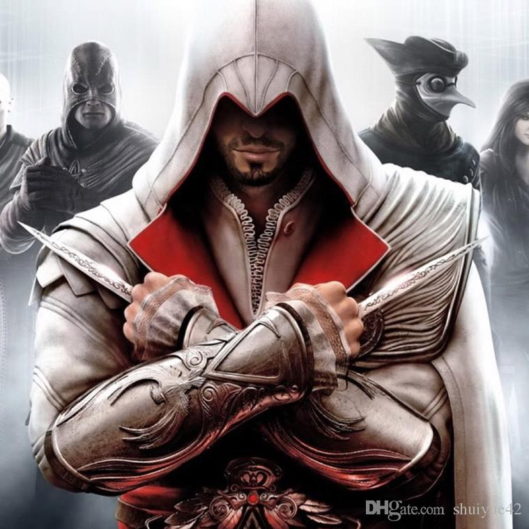 2019 Assassins Creed Action Figure Hidden Blade Brotherhood Ezio Auditore Gauntlet Replica Cosplay Collectible Model 40cm From Shuiyue42 30 16