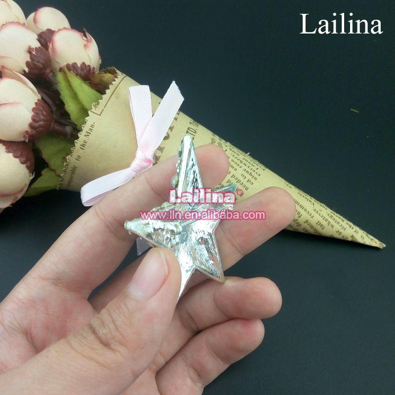 Hot sale Sparkling Star Brooch Pin Clear Glass Rhinestone for party, star rhinestone brooch