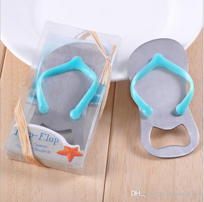 3e0b67ec0 ... Slipper Beer Bottle Opener Tools Wedding Favors Gifts Blue Flip-Flop  Sandal Bottle Opener Slipper ...