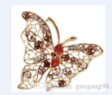 разноцветная хрустальная бабочка мужская; женская брошь (4.4 * 5см) (myyhmz)