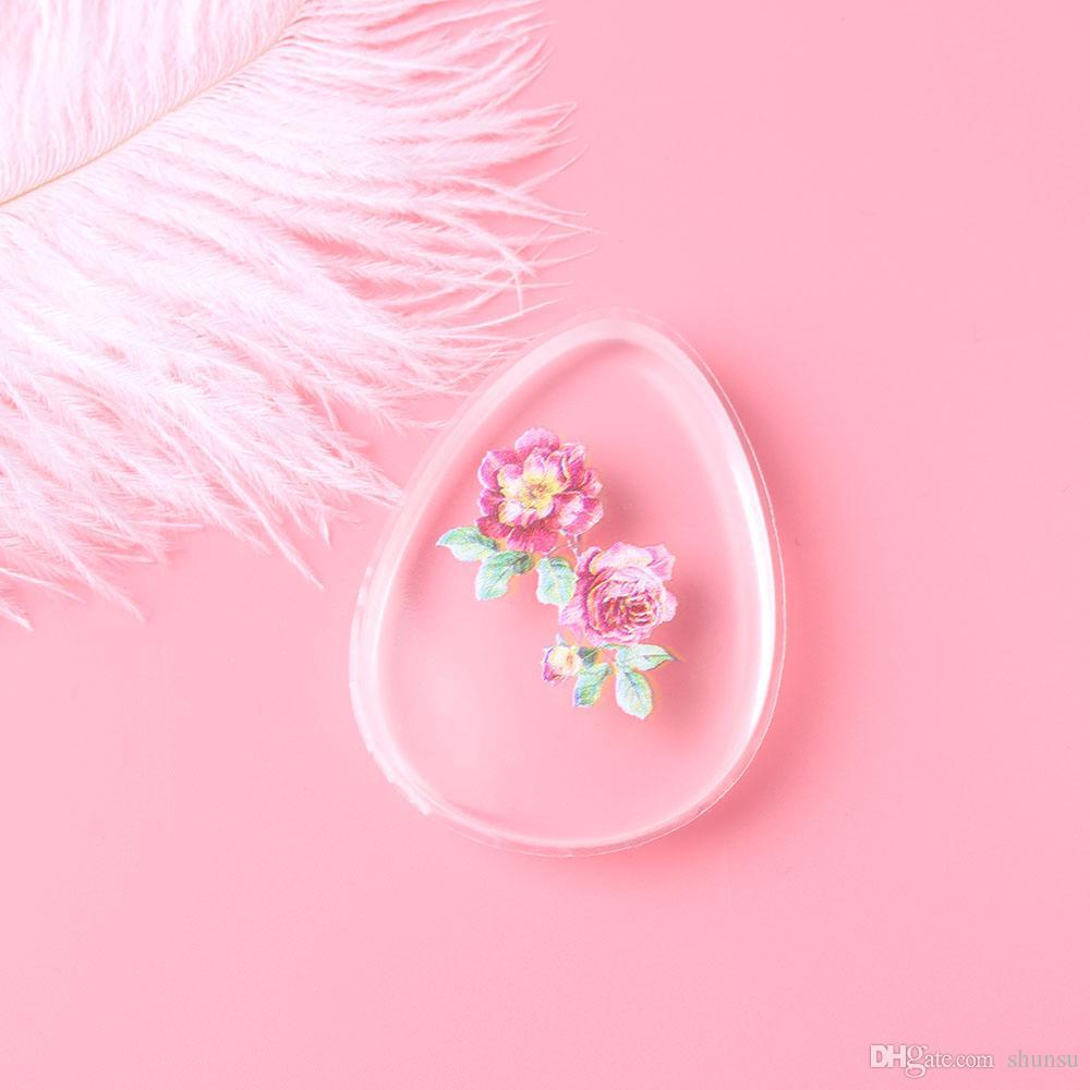 1 Stück Mode Professionelle Tropfenform Silikon Gel Schwamm Blume Gesicht Foundation BB / CC Creme Make-Up Puff Kosmetische Schwamm Werkzeuge