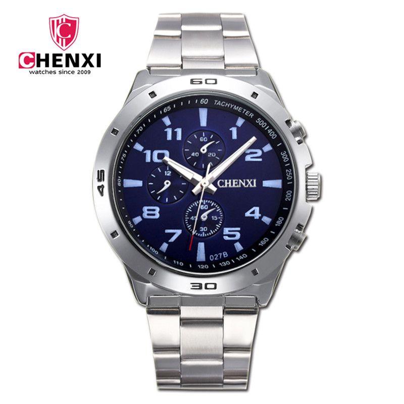 Genuine Men 's Watch Negócios Faixa de relógio de quartzo 2017 Hot CHENXI Marca Men' s Watch 027B