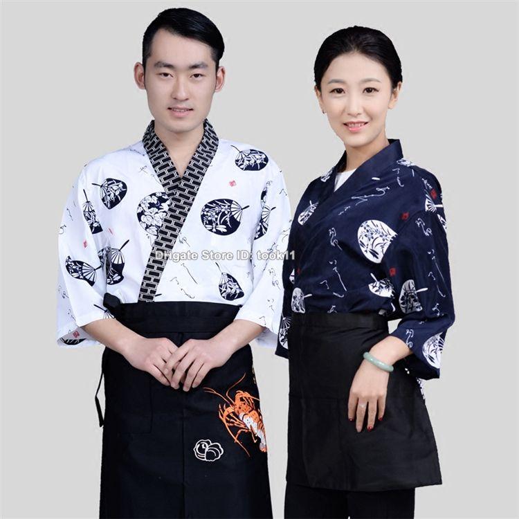 Mode féminine sushi chef cuisinier hommes uniformes restaurant service de restauration de l'hôtel café chef japonais coréen uniformes serveuse cuisinier vêtements pâtisserie costume
