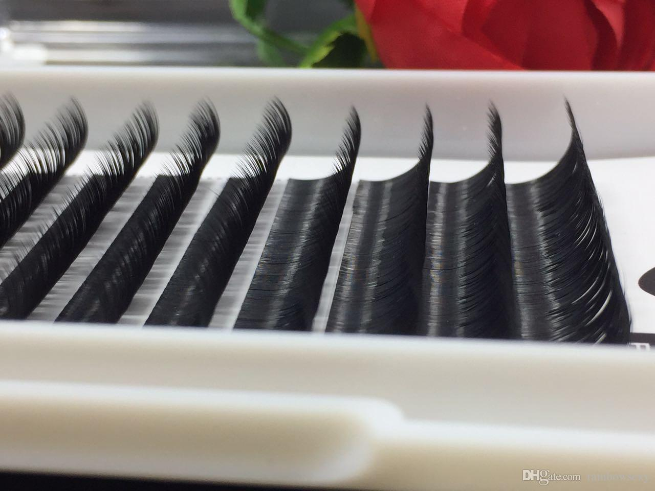 2018 Top quality C D L Curl 0.25mm individual eyelash false eyelash 8-14mm mix length volume eyelash Korean false mink lash