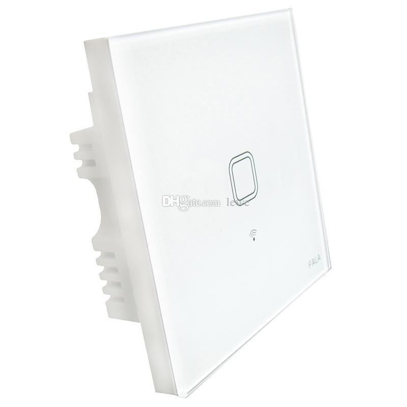 العلامة التجارية الجديدة التي تعمل باللمس المملكة المتحدة التوصيل الجدار واي فاي ضوء التبديل الزجاج لوحة اللمس LED أضواء التبديل عن المنزل الذكي لاسلكي للتحكم عن بعد التبديل