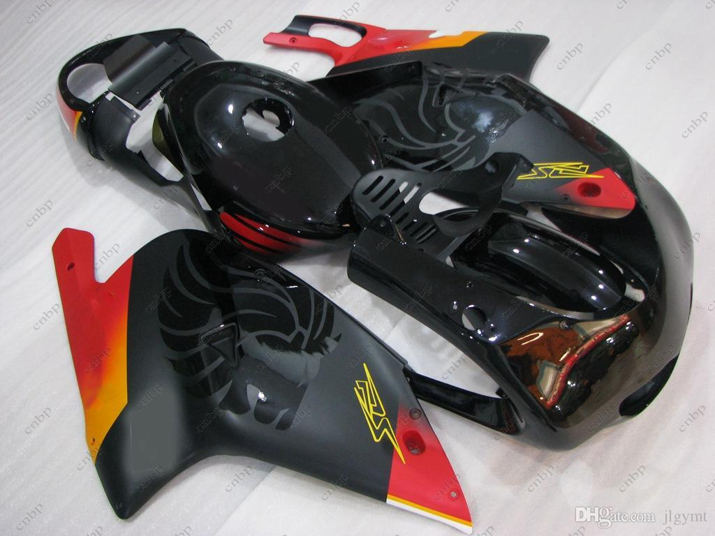 Kit carenatura per Aprilia RS125 01 00 Carena ABS RS 125 04 05 Kit completo corpo nero rosso RS125 02 03 2000 - 2005