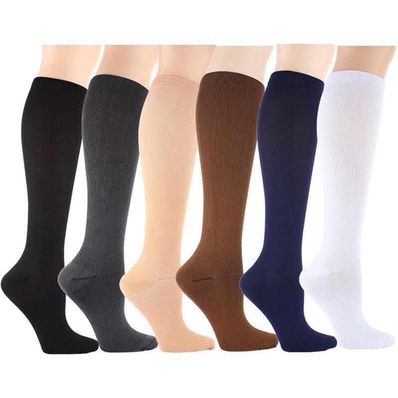 2017 Free Shipping Men Women Leg Support Stretch Outdoor Sports Socks Knee High Compression Socks Running Snowboard Long Socks Stockings