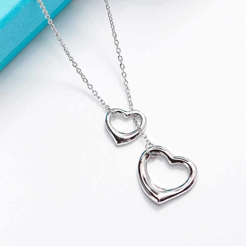 Agood accesorios de joyería de moda 925 collares de plata esterlina colgantes para las mujeres del banquete de boda de plata pura