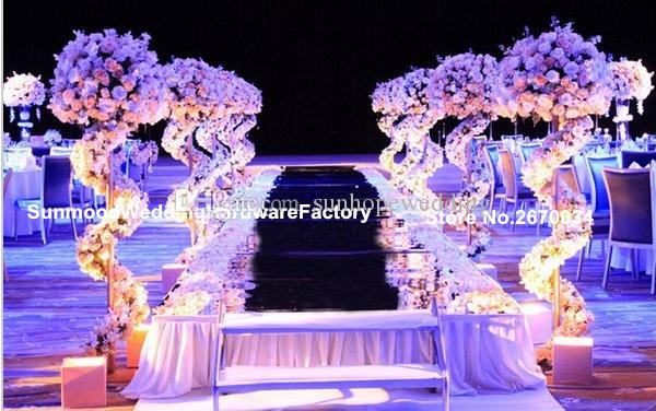mental stand only ) new arrival Luxury Wedding Decoration wedding pillars column Road Lead Stand for flower arrangement