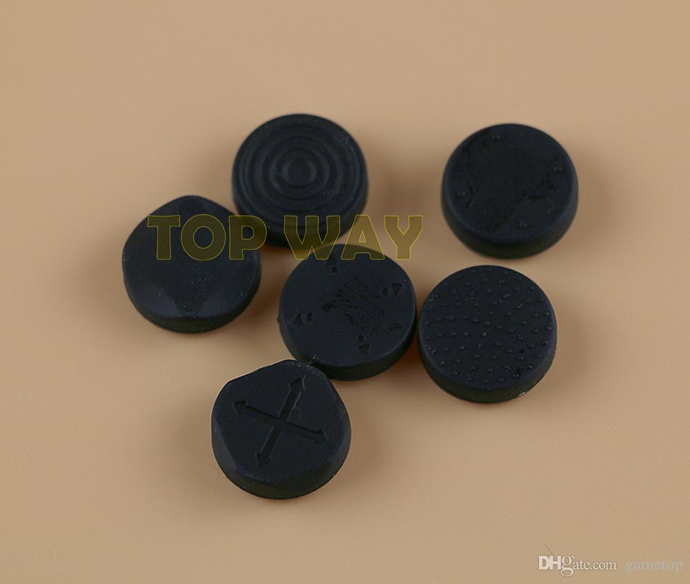 6 In 1 Silicone Thumbstick Grip Tappo Joystick analogico Kit copertura del tasto caso per PS Vita PSV 1000/2000 protettivo 1 set = 6 pz