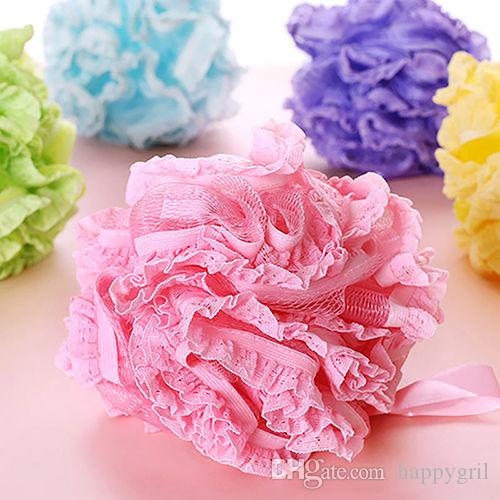Flower Bath Ball Bath Tubs Cool Ball Bath Towel Scrubber Body Cleaning Mesh Shower Wash Sponge For Body For Bathroom Accessories