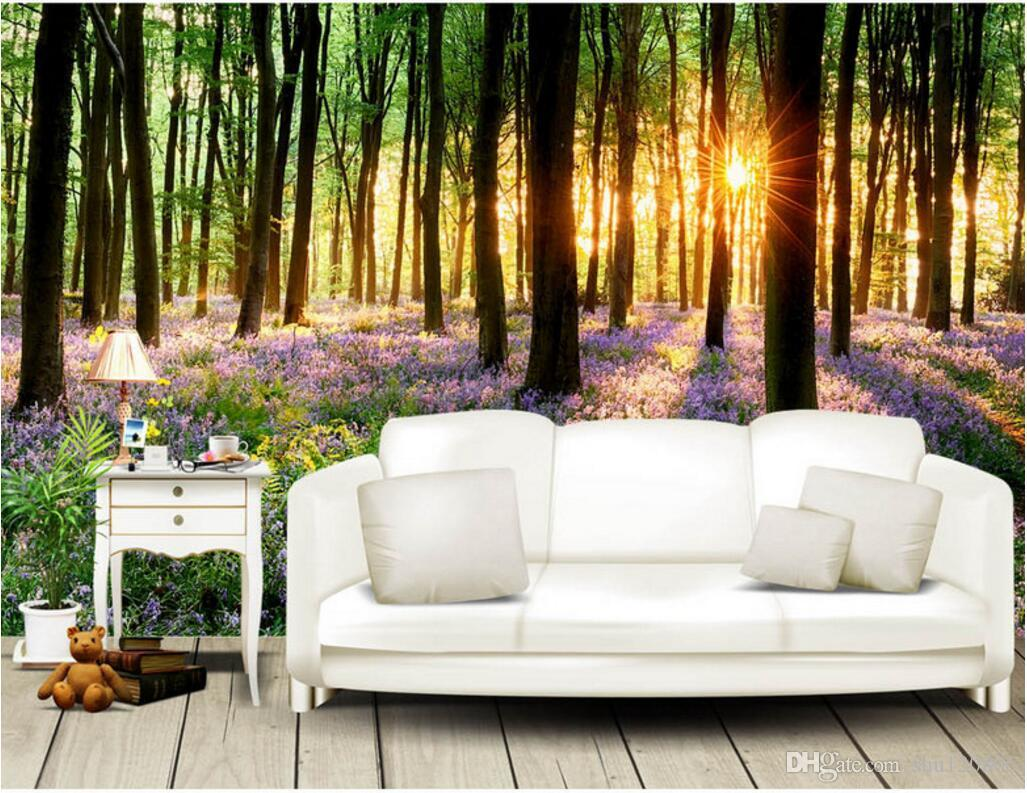3d Room Wallpaper Custom Photo Mural Beautiful Lavender Landscape Painting  Painting Picture 3d Wall Murals Wallpaper For Walls 3 D Wallpaper Computer  ...