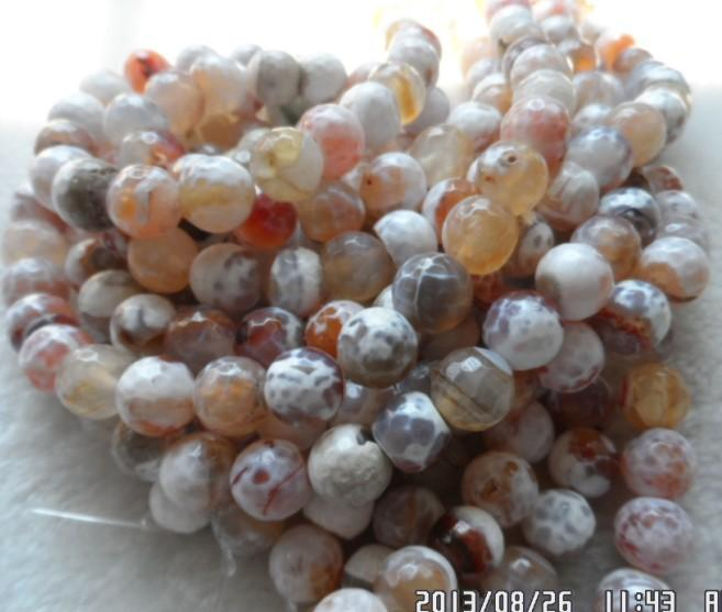 10mm Natural gem Semi-precious Stone Facet Agate Round Ball Loose Beads diy Fashion Beaded Jewellery Accessories Jewelry Making