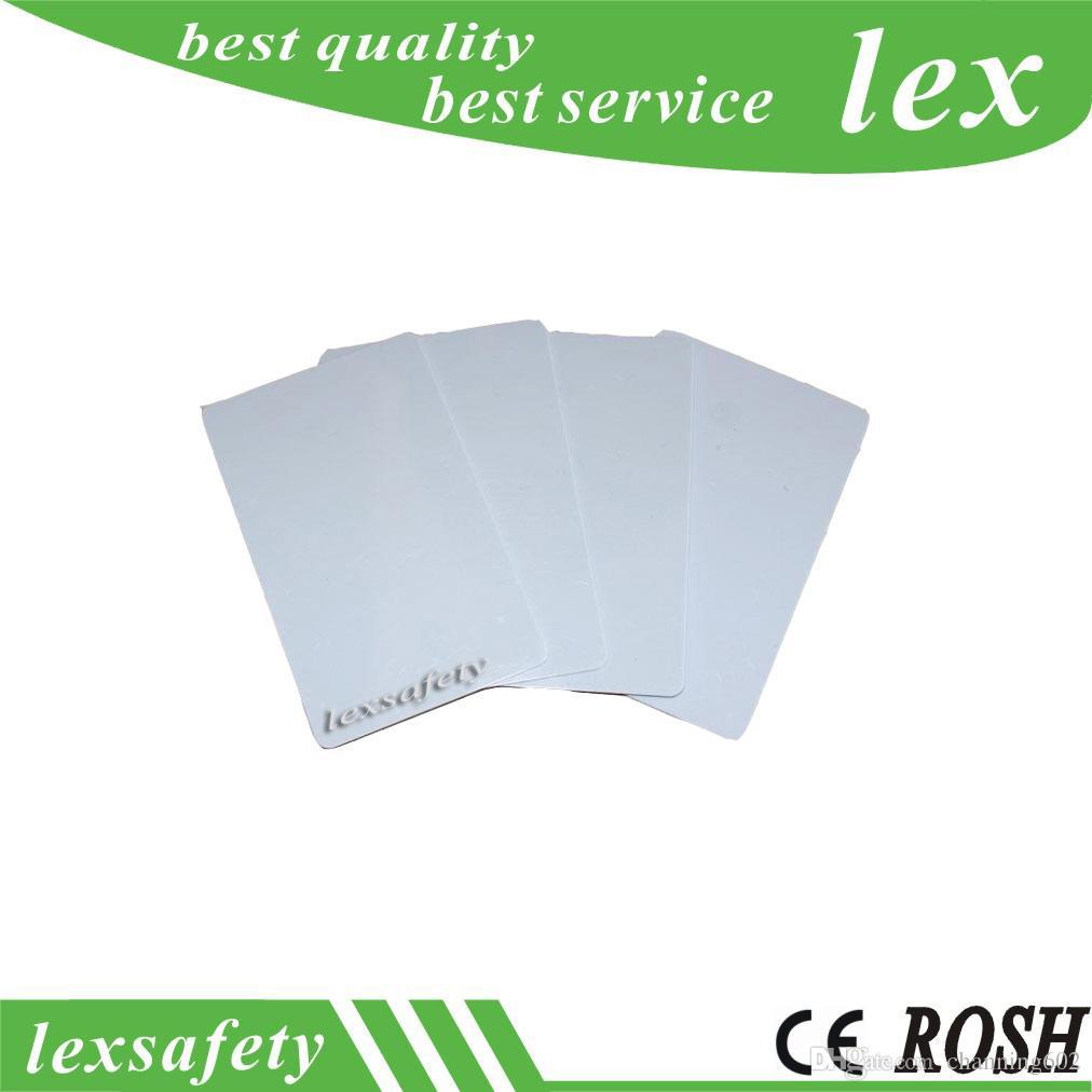 100 pcs / lot FM11RF08 13.56 MHz ISO14443A 8kbit (1K) Personnalisé Imprimable Blanc PVC En Plastique Biz Cartes Cartes Clés Vierges