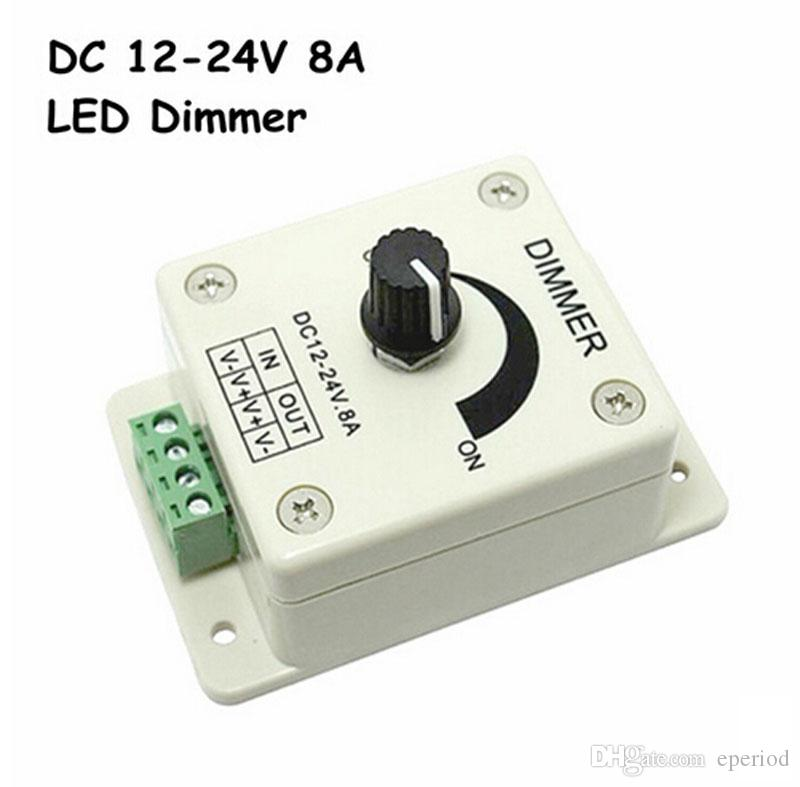 Led dimmer DC 12-24V 8A 96W Light lamps Switch Dimmer Bright ...