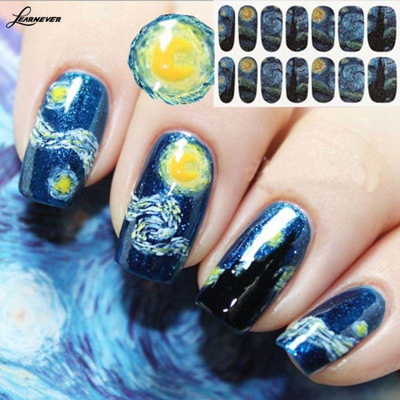 14 diversos colores / set NUEVO Broken Nail Pedazos de cristal espejo de lámina metálica Consejos de la plantilla arte de la etiqueta engomada linda Herramientas