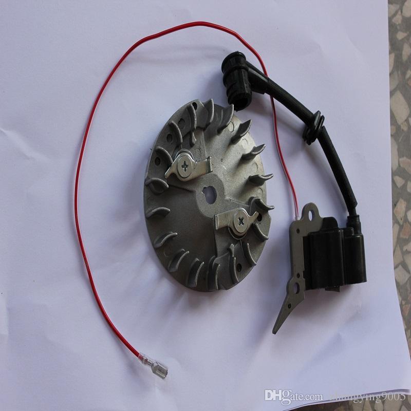 Utensili da giardino di alta qualità 2 tempi piccola motosega benzina 2500 accensione professionale nuovo design motore ricambi bobina di accensione volano